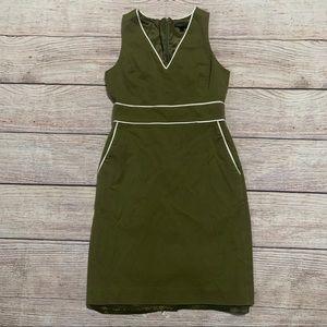 J. Crew army green sleeveless dress with pockets